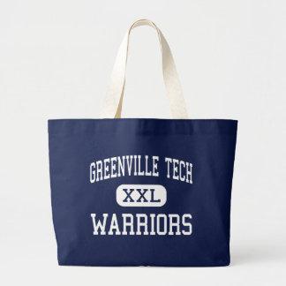 Greenville Tech - Warriors - Charter - Greenville Jumbo Tote Bag
