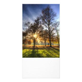 Greenwich Park Autumn Art Photo Card