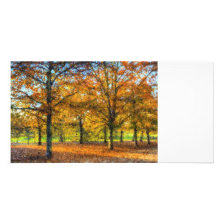 Greenwich Park Autumn Art Picture Card