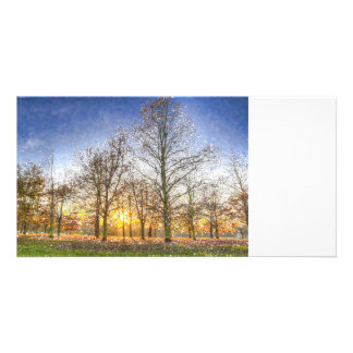Greenwich Park London Art Personalized Photo Card