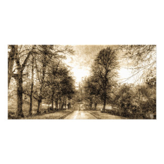 Greenwich Park London Vintage Personalized Photo Card