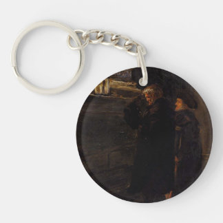 Greenwich Pensioners by John Millais Keychain
