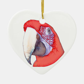Greenwing Macaw Parrot Christmas Ornament