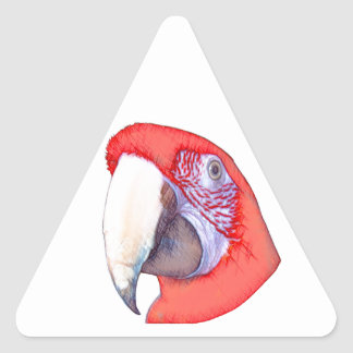 Greenwing Macaw Parrot Triangle Sticker