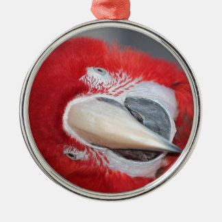 Greenwing macaw Silver-Colored round decoration