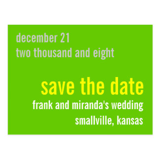 Greeny Customizable Save the Date Postcard