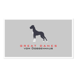 Greeny Great Dane Business Card Templates