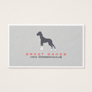 Greeny Great Dane Business Card