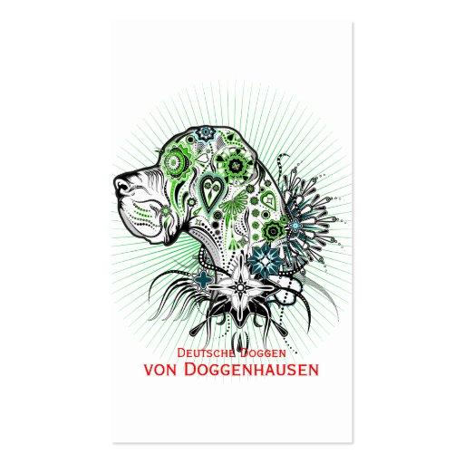 Greeny Great Dane Business Card
