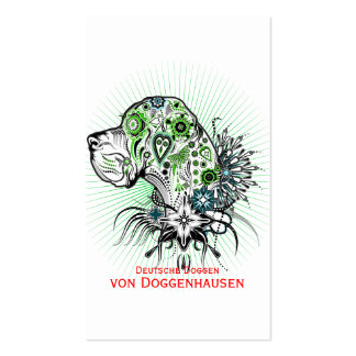 Greeny Great Dane Pack Of Standard Business Cards