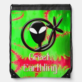Greeting Alien Greet Earthling Fractal Backpack