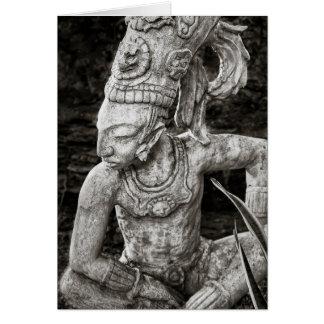 Greeting Card - Ancient Mayan Figure - Mexico