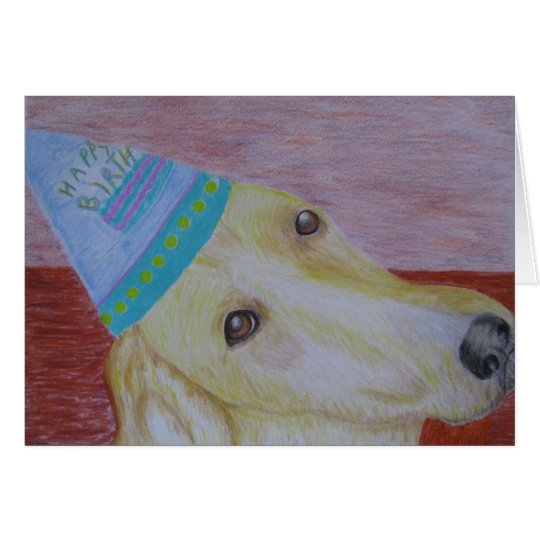 Greeting Card - Birthday - Dog Art