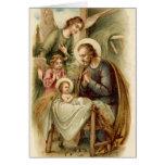 Greeting Card (Blank/Custom): St. Joseph Nativity