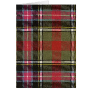Greeting Card Bruce of Kinnaird Ancient Tartan