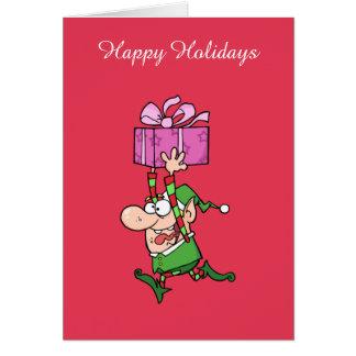 Greeting Card--Christmas Elf Greeting Card