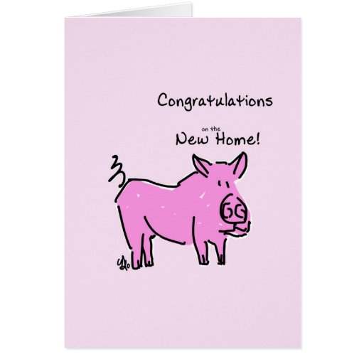 Greeting card- Congratulations on the New Home