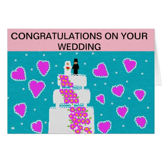 greeting card. congratulations on your wedding card
