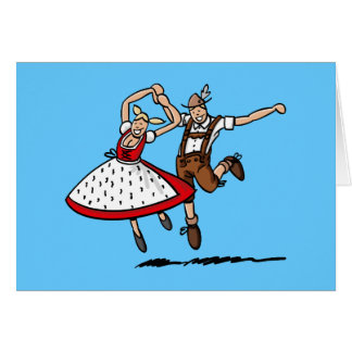 Greeting Card Dancing Oktoberfest Couple