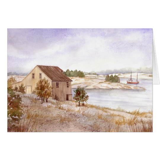 Greeting Card - Fisherman's House