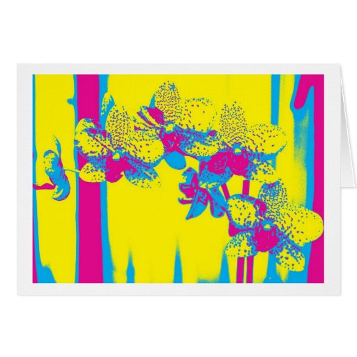 Greeting Card Flowers Pop kind Orchid