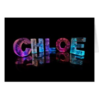Greeting Card for Chloe in 3D Lights
