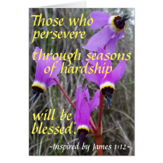 Greeting card for Encouraging Perseverance