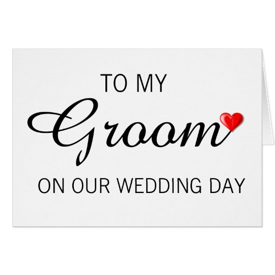 Greeting Card for Groom on Wedding Day