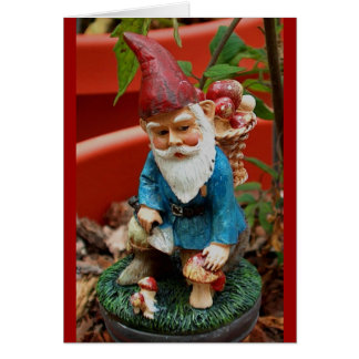 greeting card - garden gnome