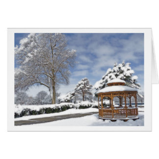GREETING CARD/ GAZEBO IN THE SNOW GREETING CARD