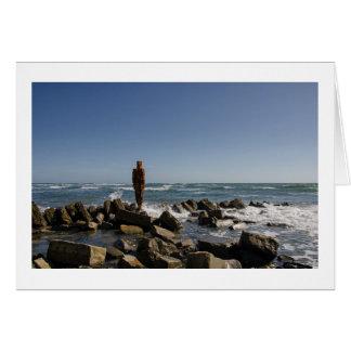 Greeting Card | Gormley 'Land' Figure, Kimmeridge