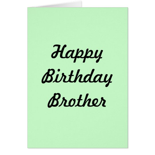 GREETING CARD(HAPPY BIRTHDAY BROTHER) CARD