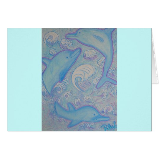 Greeting Card -Happy Dolphins
