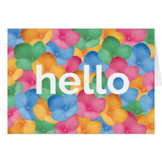 Greeting Card - hello