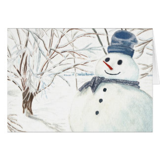 "Greeting Card ""Hello from Snowman"""
