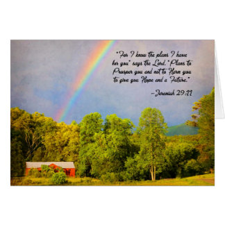 Greeting Card - Jer  29:11 :For I Know the Plans