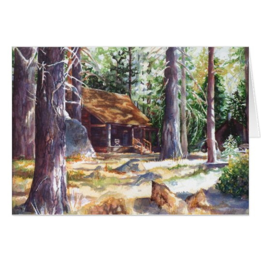 "Greeting Card Lake Tahoe Cabin 7"" X 5"""