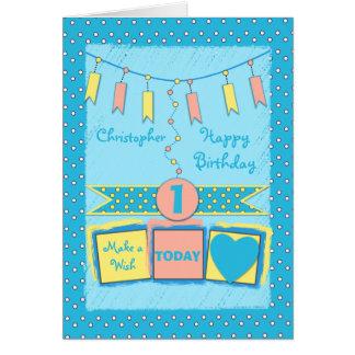 Greeting Card little boy birthday