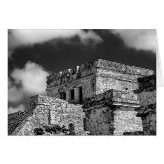 Greeting Card - Mayan Ruins - Tulum, Mexico