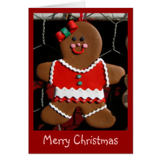 greeting card - Merry Christmas gingerbread