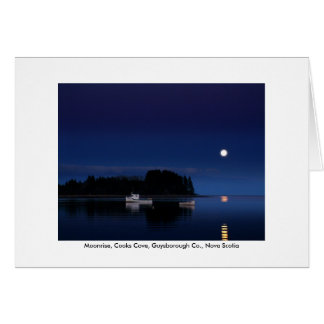 Greeting Card - Moonrise, Cooks Cove
