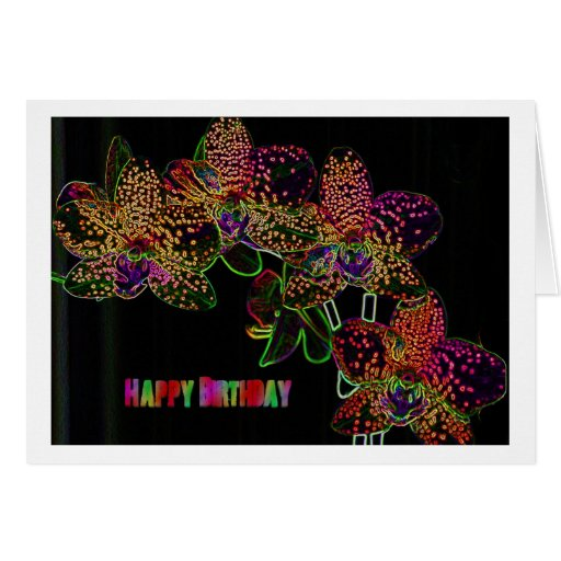 greeting card, more flower, orchid, popart