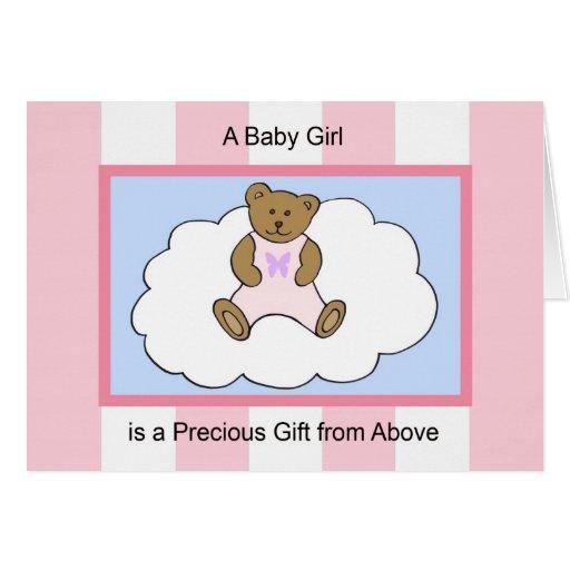 Greeting Card New Baby Girl -- Precious Gift