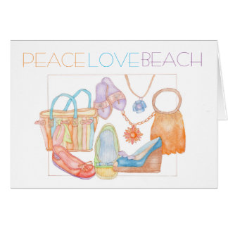 Greeting card/note with summer design card