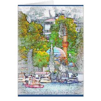 Greeting Card of Bebek bay, Istanbul