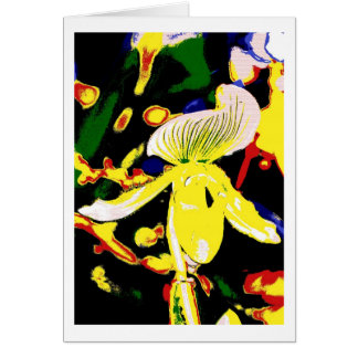 Greeting card orchid