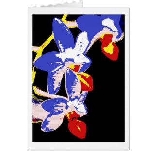 greeting card orchid blue