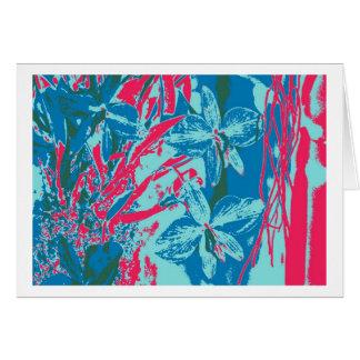 greeting card orchid blue talk