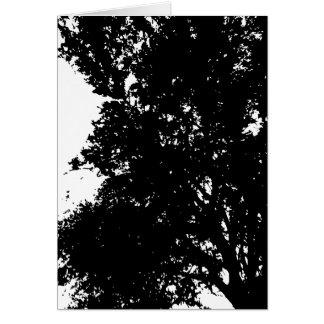 Greeting Card PAPA'S TREE SILHOUETTE