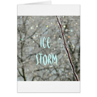 GREETING CARD, PHOTOG., ICE STORM, BLANK INSIDE GREETING CARD
